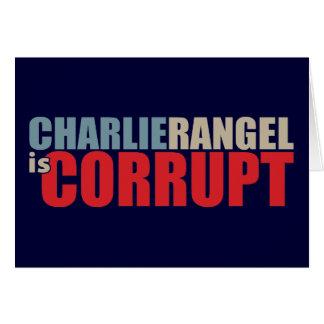 Charlie Rangel es corrupto Tarjeta