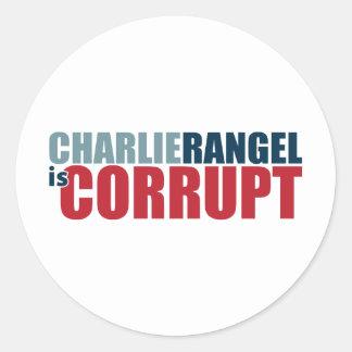 Charlie Rangel is Corrupt Classic Round Sticker