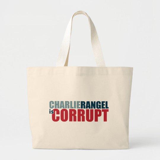 Charlie Rangel is Corrupt Large Tote Bag