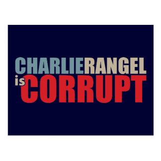 Charlie Rangel is Corrupt Post Card