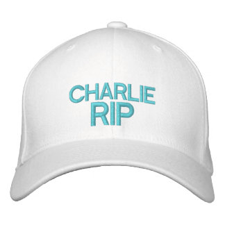 CHARLIE RIP Customizable Cap @ eZaZZleMan.com Embroidered Hats