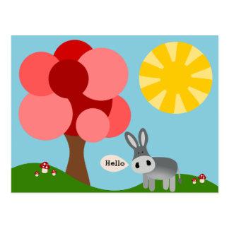 Charlie the Donkey Hello Card