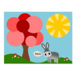 Charlie the Donkey landscape Post Cards