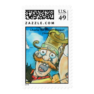 Charlie the Prayin' Dragon Postage Stamps (Jimmy)
