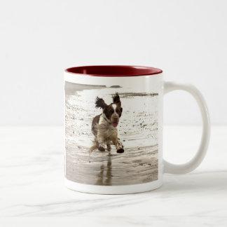 Charlie The Springer Two-Tone Coffee Mug