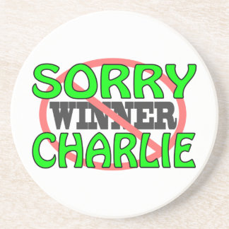 Charlie triste - no ganador posavaso para bebida