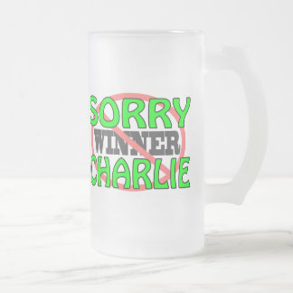 Charlie triste - no ganador taza de cristal
