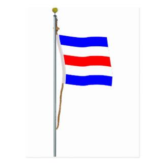 "Charlie  ""Yes"" Nautical Signal Flag ""C"" Post Card"