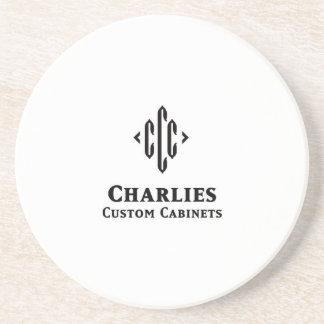 Charlies-Logotipo-Práctico de costa Posavasos Diseño