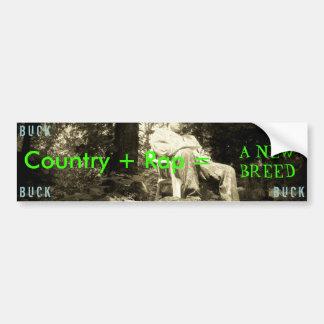CharliesPic, Country + Rap =, A NEW BREED, B U ... Bumper Sticker