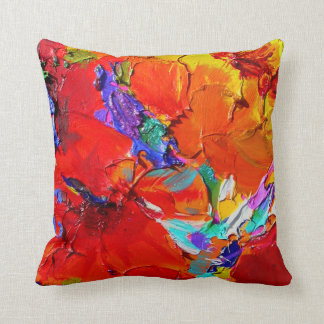 """Charlit's Floral"" Throw Pillow by Susi Franco"