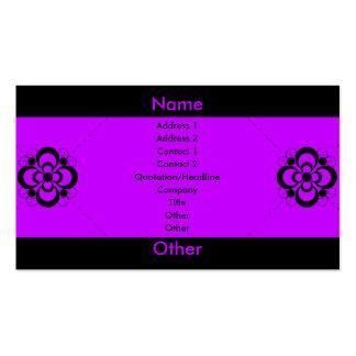 Charlize - púrpura tarjetas de visita
