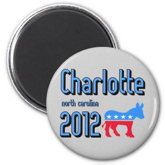 Charlotte 2012 2 inch round magnet