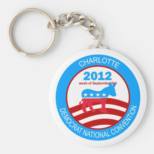 Charlotte 2012 Democrat Convention Keychain