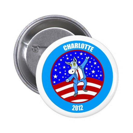 Charlotte 2012 DNC Pinback Button