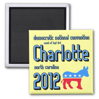 Charlotte 2012 imán cuadrado