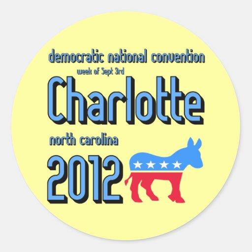 Charlotte 2012 pegatina redonda