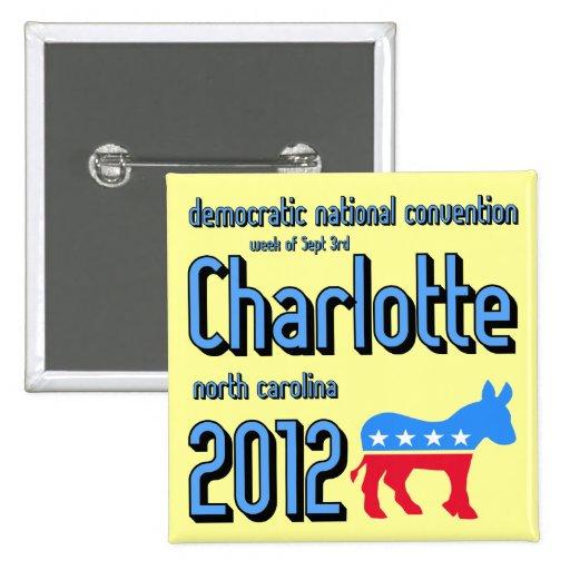 Charlotte 2012 pin cuadrado
