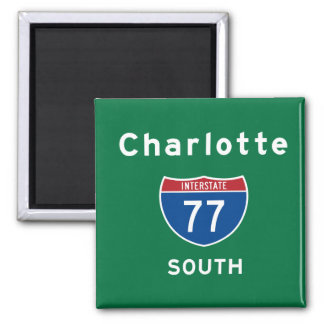 Charlotte 77 imán cuadrado