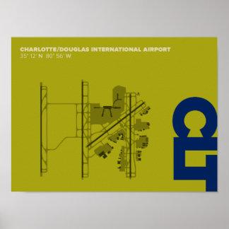 Charlotte Airport (CLT) Diagram Poster