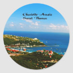 Charlotte-Amalie St Thomas Pegatina Redonda