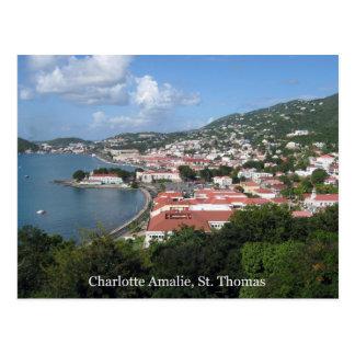 Charlotte Amalie, St. Thomas Postcard