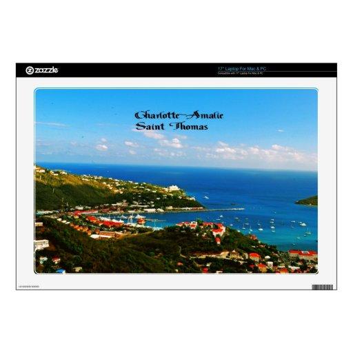 Charlotte-Amalie St Thomas Skins Para Portátil