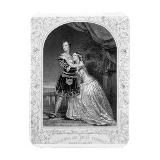 Charlotte and Susan Cushman as Romeo and Juliet, A Rectangular Photo Magnet