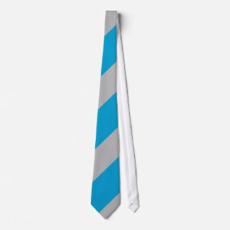 Charlotte Blue and Silver-Striped Tie