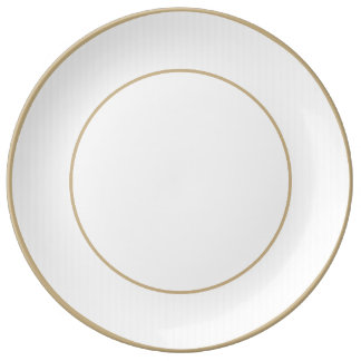 Charlotte Blue and White Stripes Pale Blue Dinner Plate