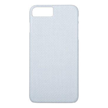 Beach Themed Charlotte Blue-Baby Princess Blue-Burlap iPhone 7 Plus Case