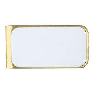Charlotte Blue - Baby Princess Blue Gold Finish Money Clip