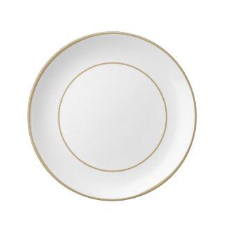 Charlotte Blue - Baby Princess Blue Porcelain Plate