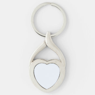 Charlotte Blue - Baby Princess Blue Silver-Colored Heart-Shaped Metal Keychain