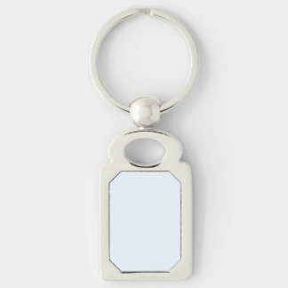 Charlotte Blue - Baby Princess Blue Silver-Colored Rectangular Metal Keychain