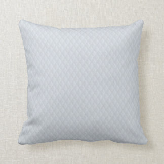Charlotte Blue Diamond Stitched Quilted Pattern Throw Pillow