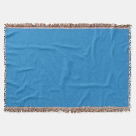 Charlotte Blue Throw Blanket