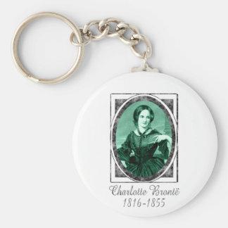 Charlotte Brontë Basic Round Button Keychain