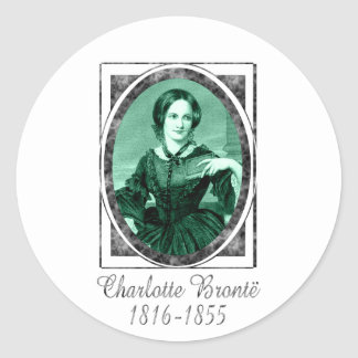 Charlotte Brontë Classic Round Sticker