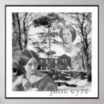 Charlotte Bronte has her eye on Jane Eyre Poster