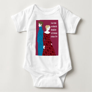 """Charlotte Bronte """"Jane Eyre"""" gift with quote Baby Bodysuit"""