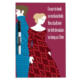 """Charlotte Bronte """"Jane Eyre"""" gift with quote Dry-Erase Board"""