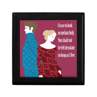 "Charlotte Bronte ""Jane Eyre"" gift with quote Keepsake Box"