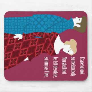 """Charlotte Bronte """"Jane Eyre"""" gift with quote Mouse Pad"""