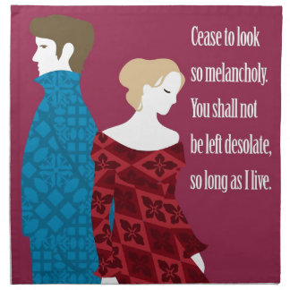"""Charlotte Bronte """"Jane Eyre"""" gift with quote Cloth Napkins"""