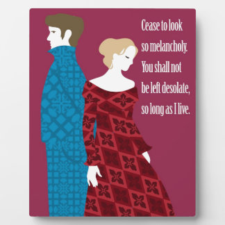 """Charlotte Bronte """"Jane Eyre"""" gift with quote Display Plaques"""
