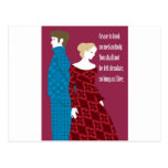 """Charlotte Bronte """"Jane Eyre"""" gift with quote Postcard"""