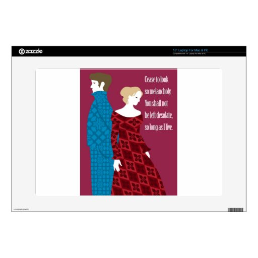 """Charlotte Bronte """"Jane Eyre"""" gift with quote Decals For Laptops"""