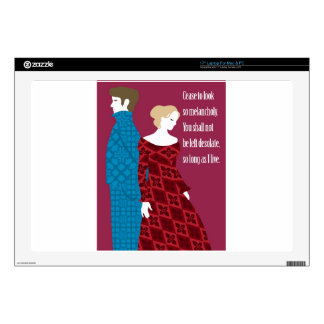 """Charlotte Bronte """"Jane Eyre"""" gift with quote 17"""" Laptop Skin"""