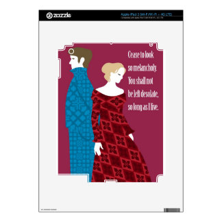 """Charlotte Bronte """"Jane Eyre"""" gift with quote iPad 3 Decals"""